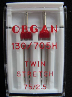 Nadeln 130-705/Twin Stretch 2.5mm/75 Dose a 2