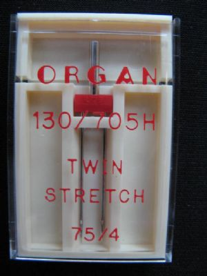 Nadeln 130-705/Twin Stretch 4mm/75 Dose a 1
