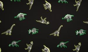Elastik Jersey B.W. Glow in the Dark Dinos